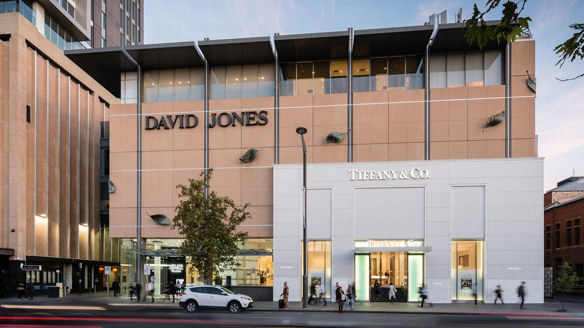 Adelaide Central Plaza - Exterior - David Jones and Tiffany and Co